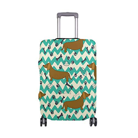Luggage Cover Cartoon Dachshunds Suitcase Protector Travel Luggage 18-32 Inch