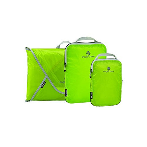 Eagle Creek Pack-It Specter Compression Cube Set + Garment Folder, Strobe Green