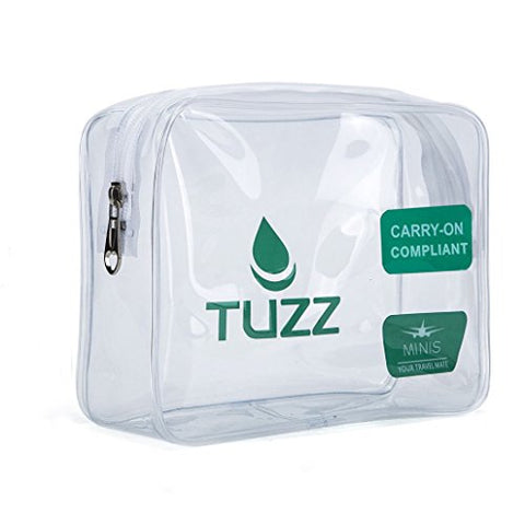 TSA Approved Clear Travel Toiletry Bag quart bags with zipper for men women | Airline 3-1-1 carry on compliant bag