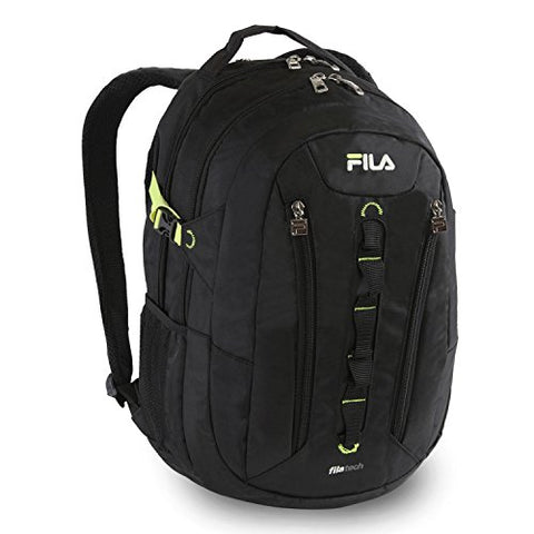 Fila Vertex Tablet And Laptop School Backpack, Black, One Size