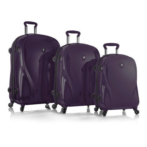 Heys Xcase 2G Spinner Ultra Violet 3-Piece Luggage Set, 100% Polycarbonate