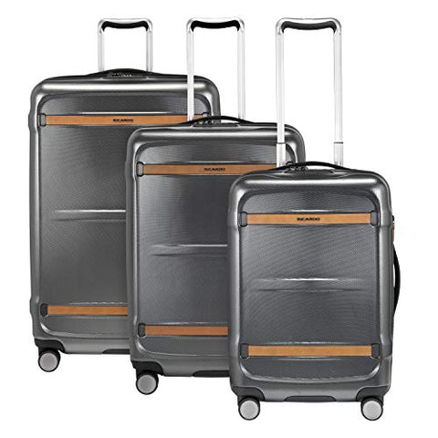 Ricardo Montecito 3-Piece Luggage Set Grey with FREE Travel Kit