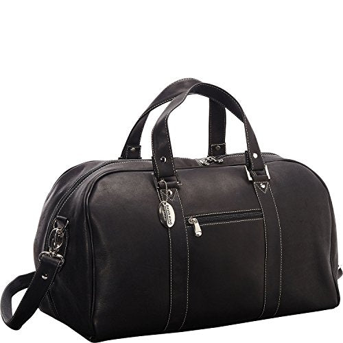 David King Vaquetta Leather Deluxe A Frame Duffel In Black