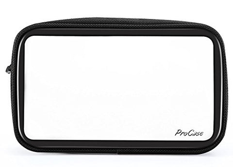 Procase Tsa Approved Travel Toiletry Bag Pouch, Matte Clear Travel Organizer Airport Carry-On
