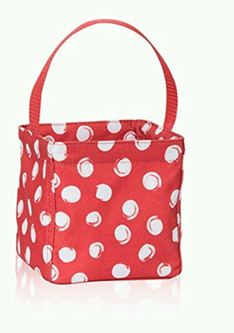 No Logo Bag Littles Carry All Caddy Red Swirl Dot