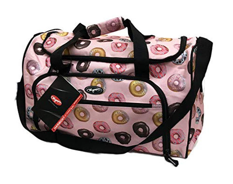 "Olympia Harmony Series SD 2221 21"" Novelty Printed Total Travel Solution Duffel Bag (Doughnuts)"