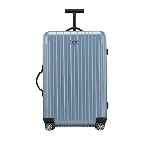"Rimowa Salsa Air Polycarbonate Carry on Luggage 26"" Inch Ultralight Cabin Multiwheel 65.0 L TSA Lock Spinner Suitcase Ice Blue"