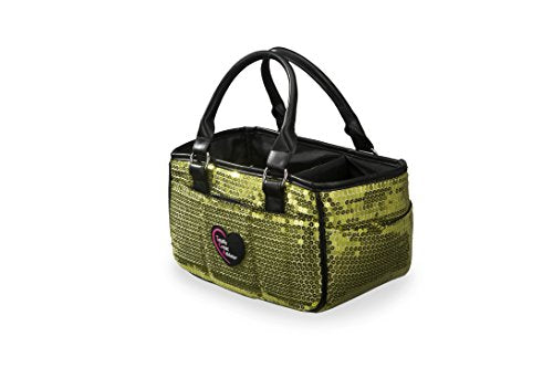 Green Sequin Ice Skating Bag Tennis Gym And Ballet Girls Athletic Bag