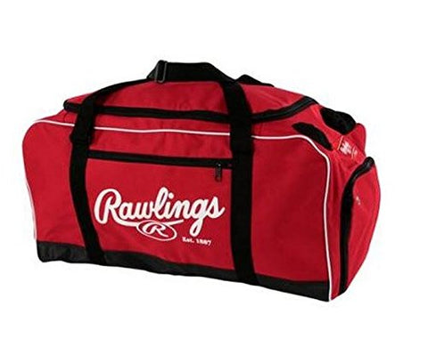 Rawlings Covert Baseball Duffel Bag Scarlet