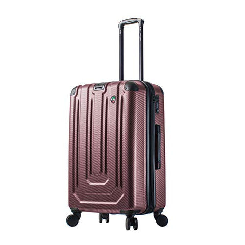Burgundy Mia Toro Italy Gaeta Hard Side 26 Inch Spinner Luggage