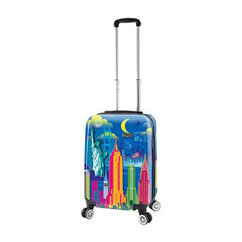 Mia Toro Mia Viaggi Italy Vintage Traveler Hardside Spinner Carry-on, New York City