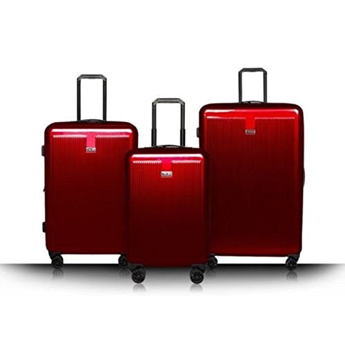 Revo Luna Hardside 3 Piece Luggage Set Spinner Red Made In The Usa!