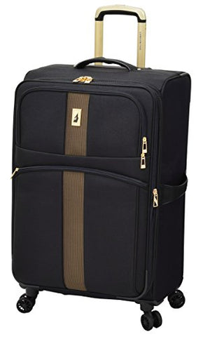 "London Fog Langley 21"" Expandable Spinner Carry-On, Black"