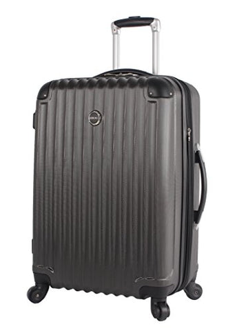 Lucas Outlander Hard Case 24 inch Expandable Rolling Suitcase With Spinner Wheels (One Size, Graphite)