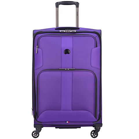 "Delsey Luggage Sky Max 25"" Expandable Spinner Upright, Purple"