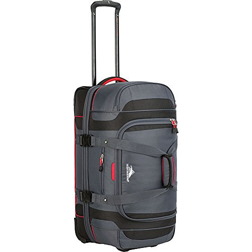 "High Sierra Cermak 26"" Wheeled Drop-Bottom Duffel (Mercury/Black/Crimson)"