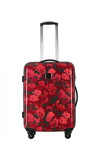 "Isaac Mizrahi Irwin 2 29"" Hardside Checked Spinner Luggage (Berry)"