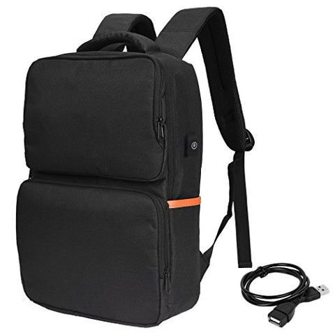 Vbiger 15.6Inch Laptop Backpack Casual School Bag Large-Capacity Travel Dayback With Usb Port