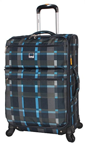 Lucas Luggage Ultra Lightweight Softside 24 Inch Expandable Suitcase With Spinner Wheels (24In, Old