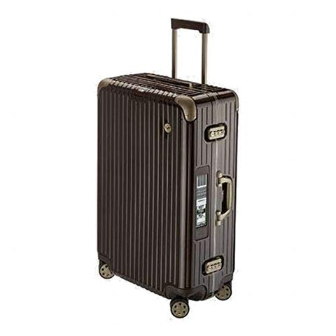 RIMOWA Lufthansa Elegance Collection suitcase 86.5L Electronic Tag Chocolate brown