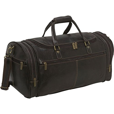 Ledonne Distressed Leather Overnighter Duffel