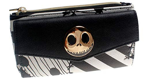 Nightmare Before Christmas Top Zip Juniors Womens Hand Purse Clutch Wallet