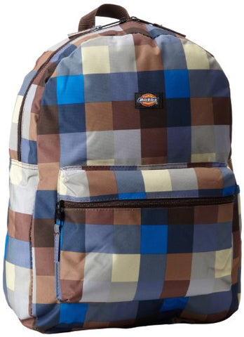 Dickies Student Backpack, Buffalo Plaid Blue, One Size