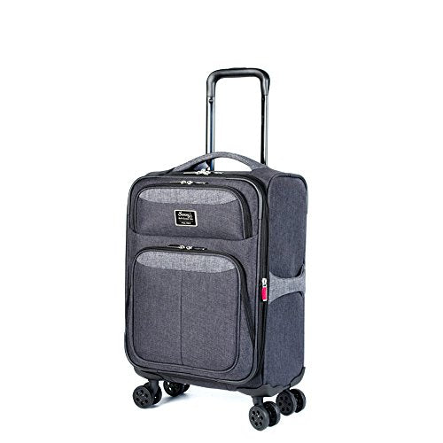 "Sammy's Soft Goods Co. Saint Dominique Expandable 20"" Suitcase, Black/Grey"