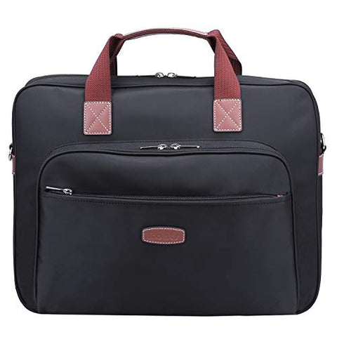 "Ronts Black Nylon 14"" Laptop Messenger Bag for Men Briefcase Business a4 Shoulder Work Tote Attache"