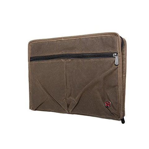 Token Bags Waxed Woodlawn Portfolio, Dark Brown, One Size