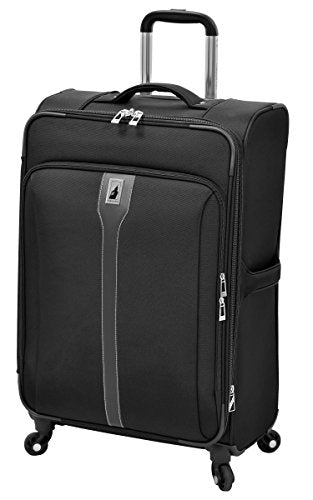 "London Fog Knightsbridge 25"" Expandable Spinner, Black"