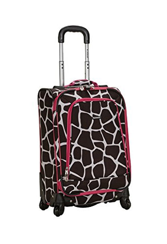 Rockland Luggage 20 Inch Spinner Carry On, Pink Giraffe, One Size