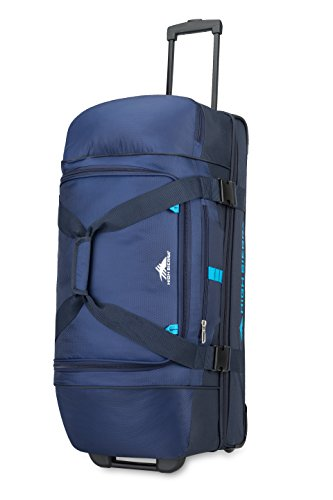 High Sierra 89573-6200 Evolution Wheeled Drop Bottom Duffel Bag, True Navy/Midnight/Pool, 30""