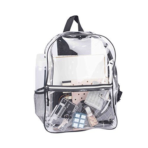 Bags For Less Transparent Vinyl Security Backpack By All Clear Stadium Safety Travel Rucksack