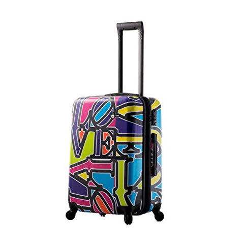 Mia Toro Love Collection Hard Side 24 Inch Spinner, Lcp Purple