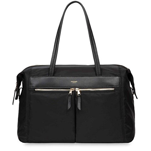 "Knomo Mayfair Nylon Curzon Fold Down Shoulder Bag 15"" - Black (Black)"