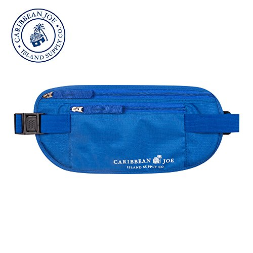 Caribbean Joe Under Clothes Slim Waist Pouch, Money Belt | Fanny Pack For Running | For Festivals