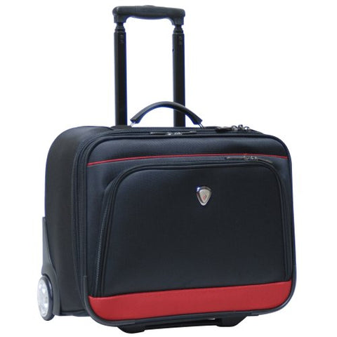 Calpak Suitor Black Rolling Carry On 16-Inch Laptop Overnighter