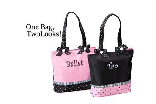 "Sassi Designs Ballet & Tap Combo Small Tote Size: Small 11"" x 9.5"" x 3"""