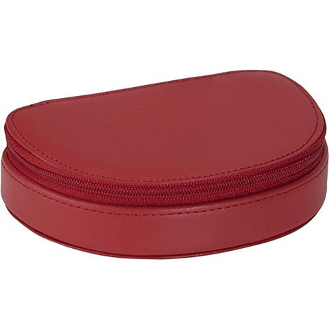 Royce Leather Mini Jewelry Case - Red