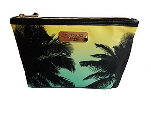 Victoria'S Secret Ombre Palm Tree Makeup Cosmetic Yellow Seafoam Blue