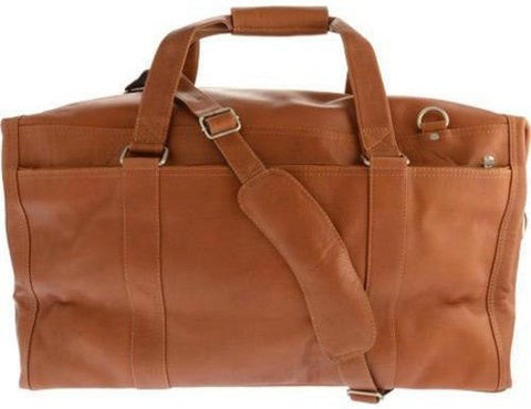 Piel Leather Extra Large Zip-Pocket Duffel, Saddle, One Size