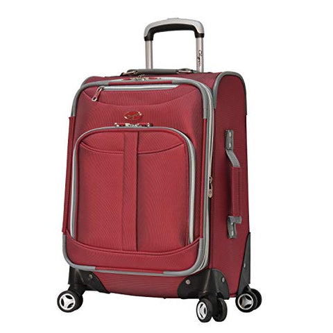 "Olympia Tuscany 21"" Expandable Airline Carry On TSA Locks,Red"