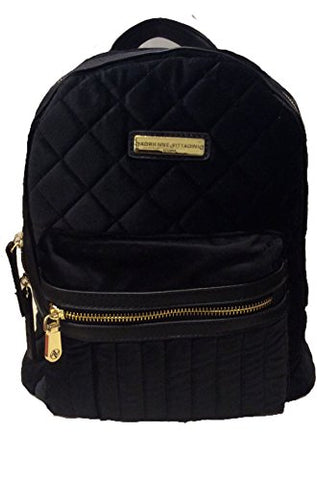 Adrienne Vittadini Studio Black Suave Quilted Backpack - Ships Fast!!!