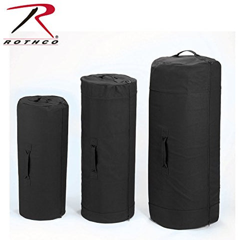 Rothco Canvas Zipper Duffle Bag, 21'' X 36'', Black