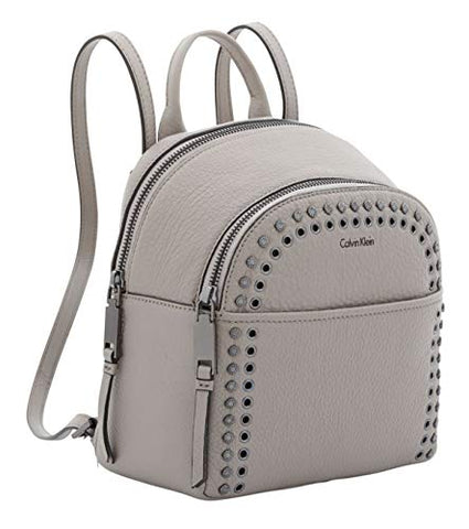 Calvin Klein Samira Pebble Leather Small Backpack ? Smoke