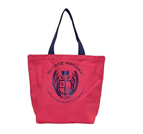 Sloane Ranger Red Crest Canvas Tote Bag