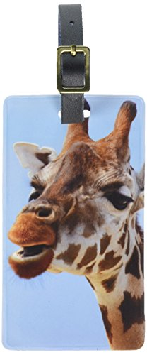 Graphics & More Funny African Giraffe Luggage Tags Suitcase Carry-On Id, White