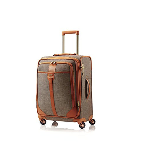 Hartmann 20 Inch Herringbone Luxe Ss Carry On Spinner, Terracotta Herringbone