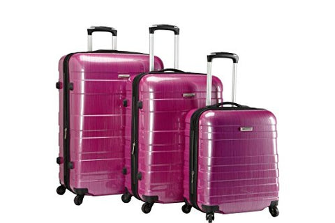 Mcbrine 3 Piece Expandable Hard Sided Set Purple